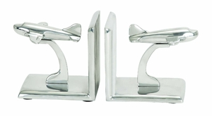 Classic Aluminum Bookend in Silver Finish with Modern Design Brand Woodland