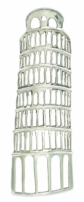 Classic Aluminum Leaning Tower in Beautiful Silver Finish Brand Woodland