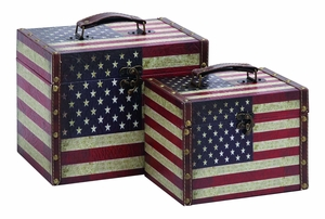 Classic American Treasures Box Set With Aged Leather Brand Woodland