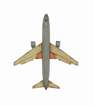 Classic and Decorative Metal  Airplane Model Brand Benzara