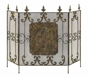 Classic Brass Alloy Spark Screen For Your Home Fireplace Brand Woodland