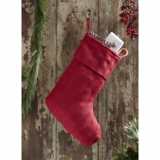 Classic Christmas Red Woven Stocking 11x15