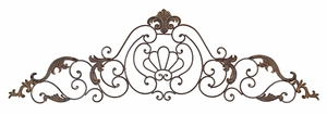 Classic Crown Iron Scroll Art Plaque Wall Decor Sculpture Brand Woodland