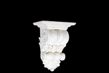 Classic Design Fiberstone Wall Decor Corbel in White Small