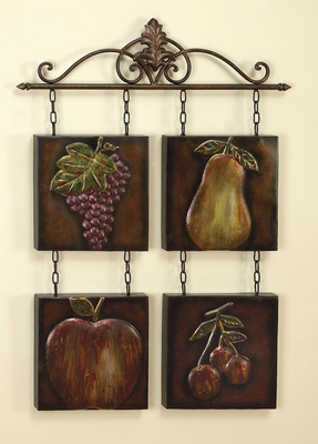 Classic Fruit Garden Metal Wall Decor Sculpture with Detailing Brand Woodland