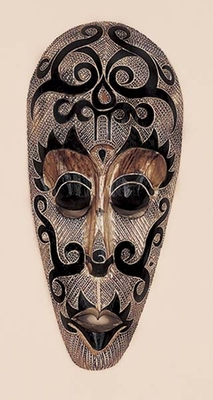 Classic Hand Painted Wooden Mask Wall Folk Art Sculpture Brand Woodland