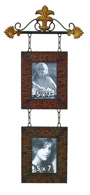 Classic Iron Scroll Metal Wall Photo Frame - Set of 2 Frames Brand Woodland