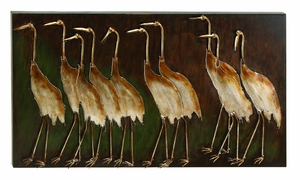 Classic Leading the Way Birds Metal Wall Decor Sculpture Brand Woodland