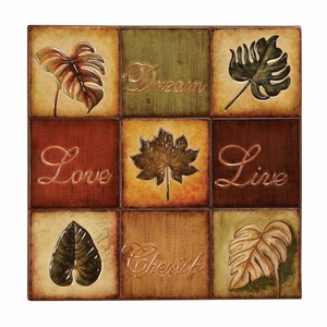 Classic Love and Cherish Metal Wall Art Decor Sculpture Brand Woodland