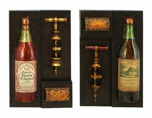 Classic Love of Wine Metal Wall Decor Sculpture  - Set of 2 Brand Woodland
