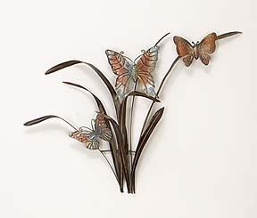 Classic Metal art of Dancing Butterfly Trio Wall Decor Sculpture Brand Woodland