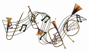 Classic Metal Music Rhythm Concert Wall Art Decor Sculpture Brand Woodland