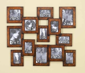 Classic Metal Photo Frame in Rustic Brown - Assorted 13 Brand Woodland