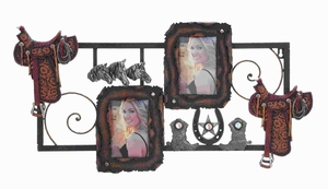 Classic Metal PS Wall Photo Frame in Trendy Cowboy accents Brand Woodland