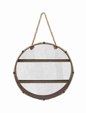 Classic Metal Rope Wall Shelf Brand Benzara
