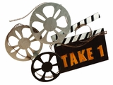 Classic Metal Take One Movie Camera Wall Art Decor Sculpture Brand Woodland