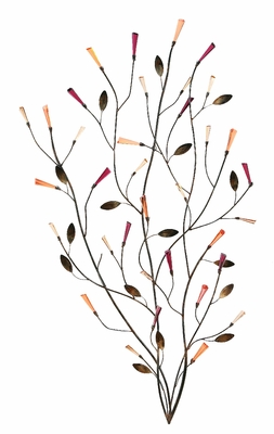 Classic Metal Wall Art Decor Sculpture with Casa Blanca Floral Brand Woodland