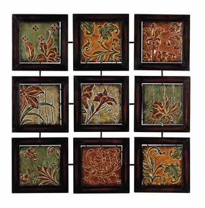 Classic Metal Wall Decor in Multi Color with Floral Design Brand Woodland