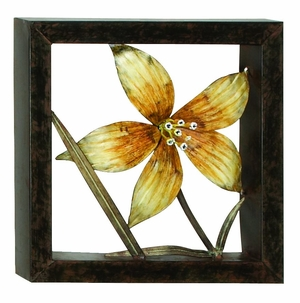 Classic Metal Wall Decor Sculpture with Behind the Poppies Brand Woodland