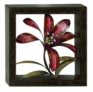 Classic Metal Wall Decor Sculpture with Drifting Flower Brand Woodland