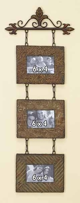 Classic Metal Wall Photo Frame in Bronze Finish- Set of 3 Brand Woodland