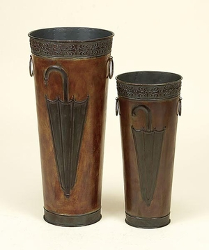 Classic Monsoon Metal Umbrella Canes and Stick Stand - Set of 2 Brand Woodland
