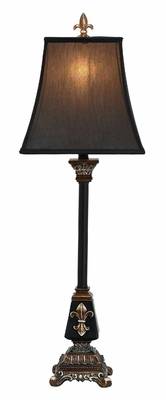 Classic Polystone Lamp in Sturdy Brown and Black Finish Brand Woodland