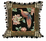 Classic Royal Garden-Bird Petit Point Pillow by 123 Creations