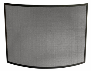 Classic Single Panel Curved Black Wrought Iron Screen