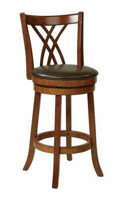 Classic Styled Metro Chic Swivel Barstool by Office Star