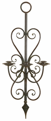 Classic Tuscany Candle Holder Metal Wall Decor Sculpture Brand Woodland