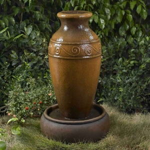 Classic Vase Outdoor/Indoor Water Fountain with Tall Pot Brand Zest