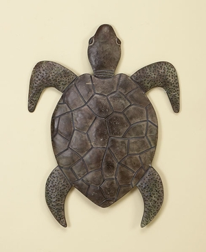 Classic Walking Turtle Metal Wall Decor Sculpture with Detailing Brand Woodland