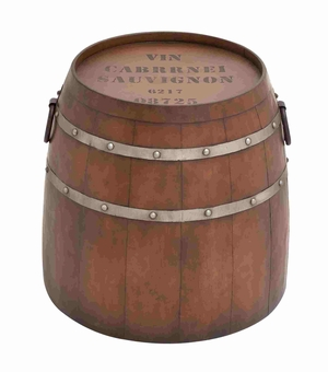 Classic Western American Styled Metal Barrel Table Brand Benzara