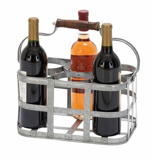 Classic Wine Holder With Unique Display Feature Brand Woodland
