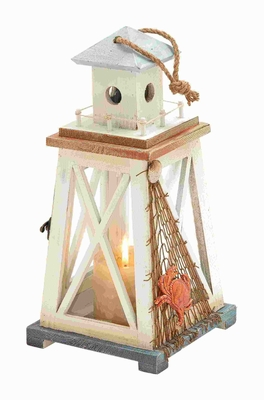 Classic Wood Lantern with Broad Base and Good aeration at the Top Brand Woodland