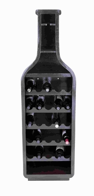 "Classic Wood Wine Holder with Five Horizontal Racks 59"" H, 18"" W Brand Woodland"