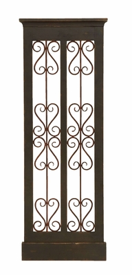 Classic Wooden and Metal Wall Panel with Intricate Details Brand Woodland
