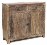 Classic Wooden Hampton Sideboard with Two Drawers and Doors