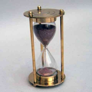 Classical Hourglass - 1 Minute Sand Timer Decor In Brass Brand IOTC