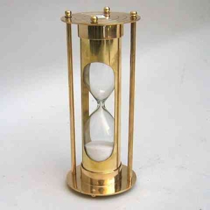 Classical Hourglass - 5 Minute Sand Timer Decor In Brass Brand IOTC