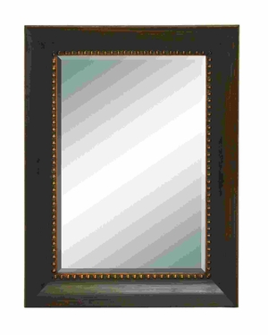 Classical Looking Glass Mirror with Simple Wood Frame Brand Woodland