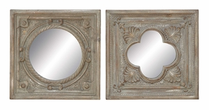 Classical Mirror Frames - Polystone Statue Mirror Frames - Set of 2 Brand Woodland