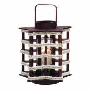 Classical Styled Wood Lantern Crafted with Classical Design Brand Woodland