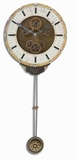 Classical Wall Clock With Rustic Brass and a Long Pendulum Brand Uttermost