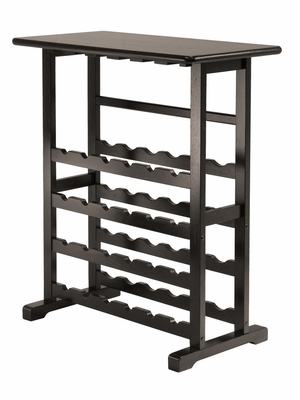 Winsome Wood Classy 24-Bottle Vinny Wine Rack with Glass Hanger