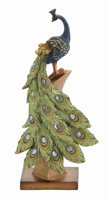 Classy and Charming Decorative Peacock Styled Home D'cor Brand Benzara