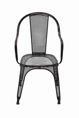Classy and Chic Net Styled Unique Black Metal Chair Brand Benzara