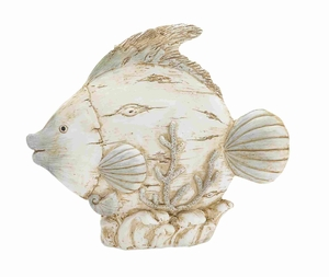"Classy and Elegant 10"" Polystone Fish with Unique Design Brand Woodland"