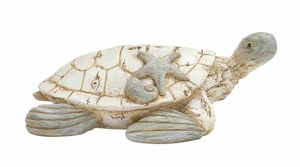 "Classy and Elegant 4"" Polystone Turtle with Unique Design Brand Woodland"